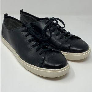 Cole Haan Jennica Leather Sneaker Black Size 8.5B